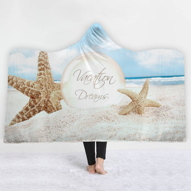 Vacation Dreams Hooded Blanket - 2 sizes - My Diva Baby