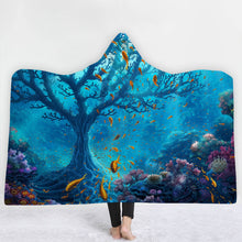 Coral Tree Hooded Blanket - 2 sizes