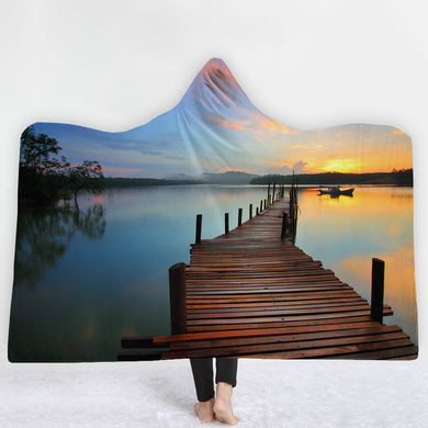 Jetty With A View Hooded Blanket - 2 sizes