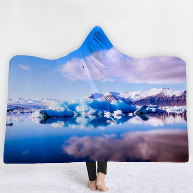 Icy Ocean  Hooded Blanket - 2 sizes