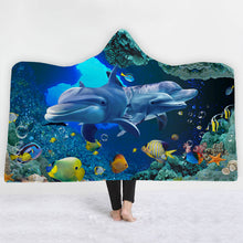 Dolphin Cove Hooded Blanket - 2 sizes - My Diva Baby