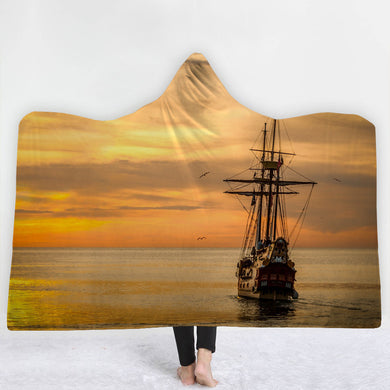 Fishing Trawler Hooded Blanket - 2 sizes