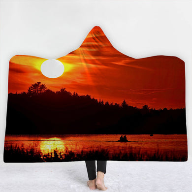 Lakeside Sunset Hooded Blanket - 2 sizes