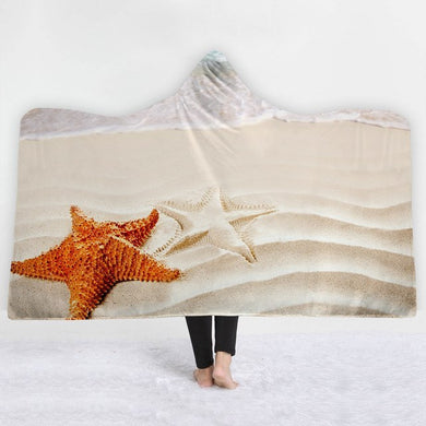 Sand N Starfish Hooded Blanket - 2 sizes