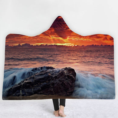 Ocean Sunset Hooded Blanket - 2 sizes
