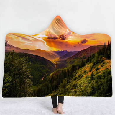 Mountains With A View Hooded Blanket - 2 sizes