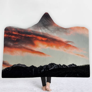 Orange Clouds Hooded Blanket - 2 sizes