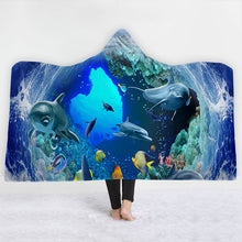 Dolphin Tunnel Hooded Blanket - 2 sizes - My Diva Baby