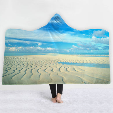 Lines In The Sand Hooded Blanket - 2 sizes