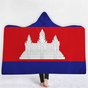 Cambodia Themed Hooded Blanket - 2 sizes