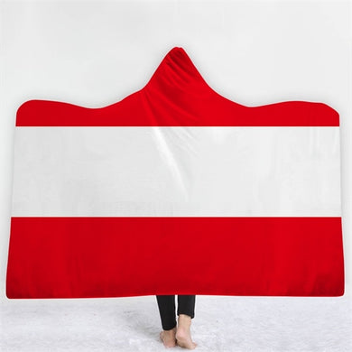 Austria Themed Hooded Blanket - 2 sizes