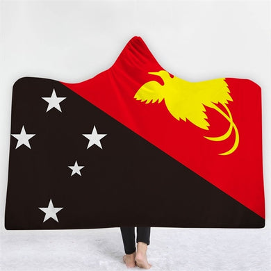 Papua New Guinea Themed Hooded Blanket - 2 sizes