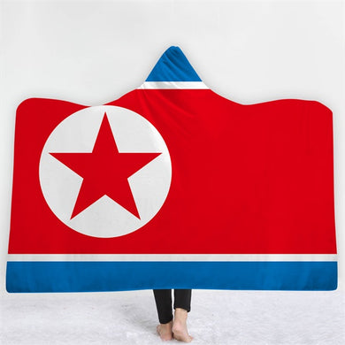 North Korea Themed Hooded Blanket - 2 sizes