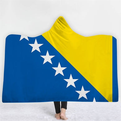 Bosnia and Herzegovina Themed Hooded Blanket - 2 sizes