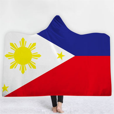 Philippines Themed Hooded Blanket - 2 sizes