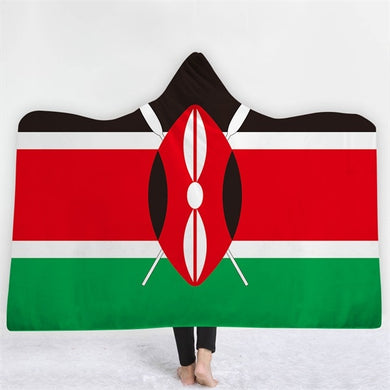Kenya Themed Hooded Blanket - 2 sizes