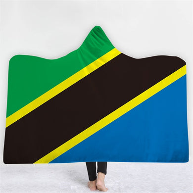 Tanzania Themed Hooded Blanket - 2 sizes - My Diva Baby