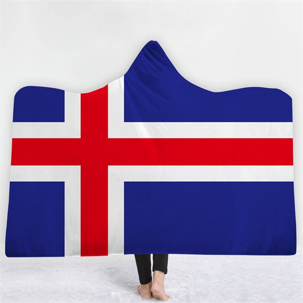 Iceland Themed Hooded Blanket - 2 sizes