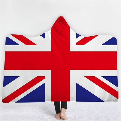 United Kingdom Themed Hooded Blanket - 2 sizes