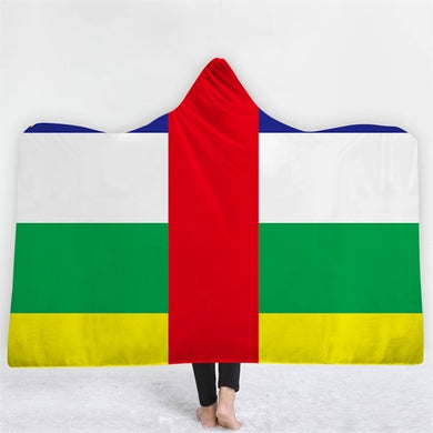 Central African Republic Themed Hooded Blanket - 2 sizes