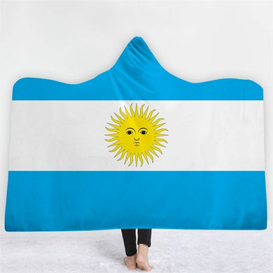 Argentina Themed Hooded Blanket - 2 sizes