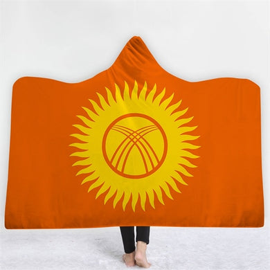 Kyrgyzstan Themed Hooded Blanket - 2 sizes