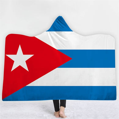 Cuba Themed Hooded Blanket - 2 sizes
