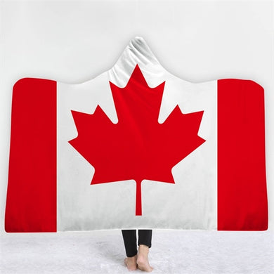 Canada Themed Hooded Blanket - 2 sizes