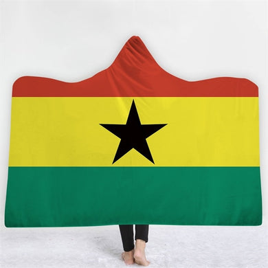 Ghana Themed Hooded Blanket - 2 sizes
