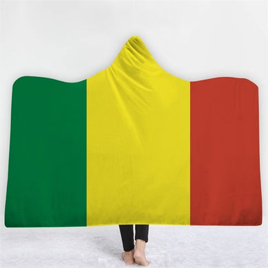 Mali Themed Hooded Blanket - 2 sizes