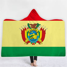 Bolivia Themed Hooded Blanket - 2 sizes