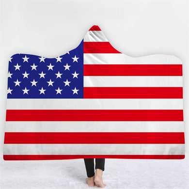 United States of America Themed Hooded Blanket - 2 sizes
