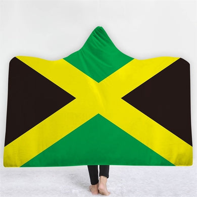 Jamaica Themed Hooded Blanket - 2 sizes
