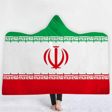 Iran Themed Hooded Blanket - 2 sizes