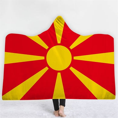 Macedonia Themed Hooded Blanket - 2 sizes