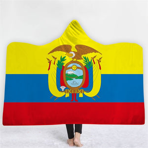Ecuador Themed Hooded Blanket - 2 sizes - My Diva Baby