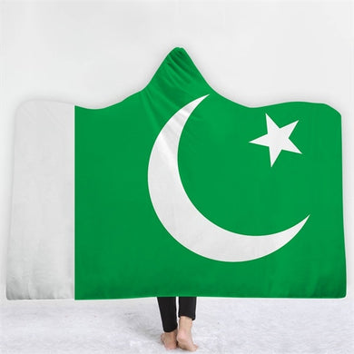 Pakistan Themed Hooded Blanket - 2 sizes