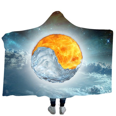 Yin and Yang #3 Hooded Blanket - 2 sizes