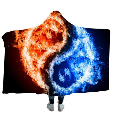 Yin and Yang #6 Hooded Blanket - 2 sizes