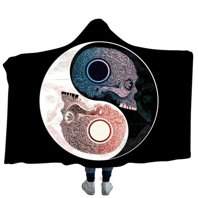Yin and Yang #7 Hooded Blanket - 2 sizes