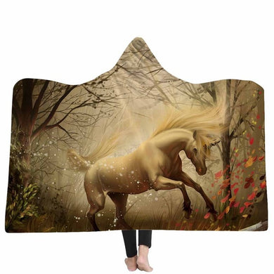 Autumns Unicorn Hooded Blanket - 2 sizes - My Diva Baby