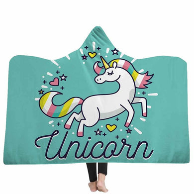 Unicorn Love Hooded Blanket - 2 sizes