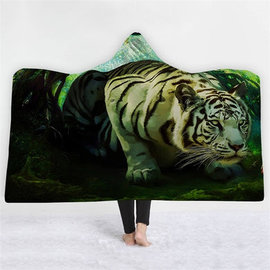 Hunting Tiger Hooded Blanket - 2 sizes