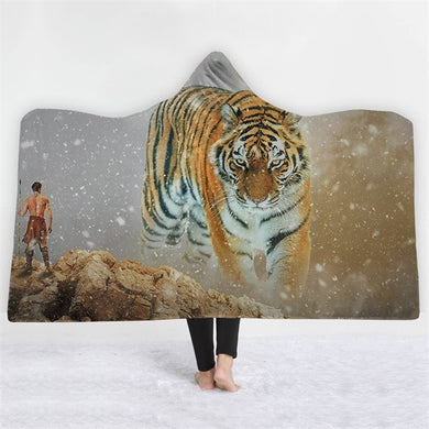 The Hunter & The The Hunted Hooded Blanket - 2 sizes