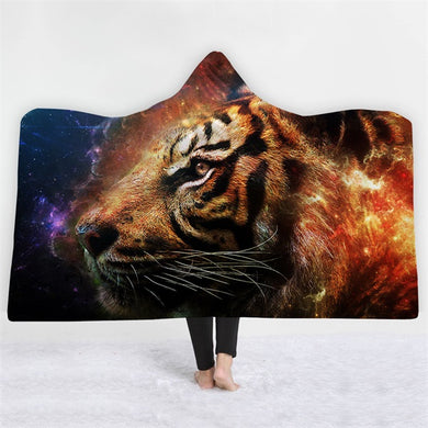 Portrait Of A Tiger Hooded Blanket - 2 sizes - My Diva Baby