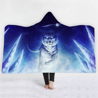 Snow Tiger Hooded Blanket - 2 sizes - My Diva Baby