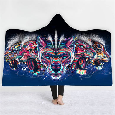 Punk Tiger Posse Hooded Blanket - 2 sizes - My Diva Baby
