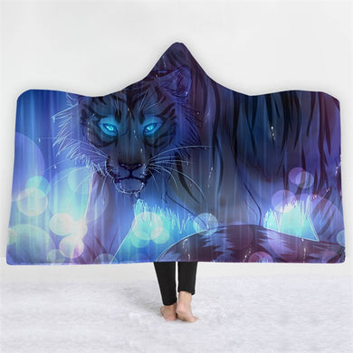 Tiger In The Rain Hooded Blanket - 2 sizes - My Diva Baby
