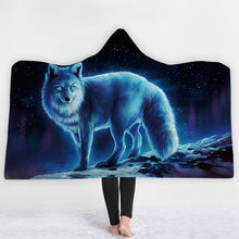 Ice Wolf Hooded Blanket - 2 sizes