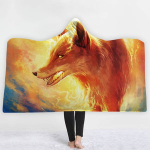Fired Up Fox Hooded Blanket - 2 sizes - My Diva Baby